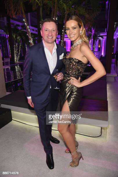 Armand de Brignac CEO Sebastien Besson and Petra Nemcova attend Creatures Of The Night LateNight Soiree Hosted By Chopard And Champagne Armand De...