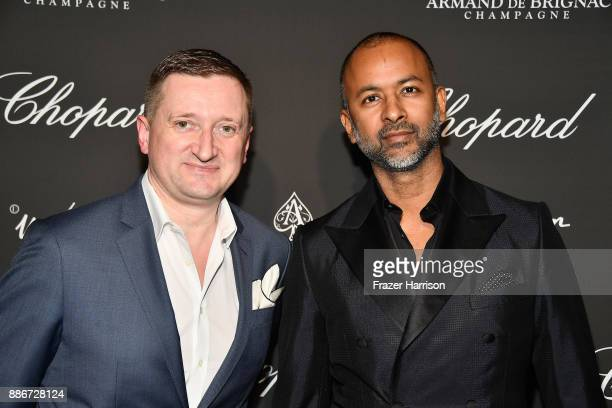 Armand de Brignac CEO Sebastien Besson and Ronnie Madra attend Creatures Of The Night LateNight Soiree Hosted By Chopard And Champagne Armand De...