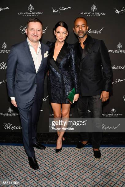 Armand de Brignac CEO Sebastien Besson Mim Gardiner and Ronnie Madra attend Creatures Of The Night LateNight Soiree Hosted By Chopard And Champagne...
