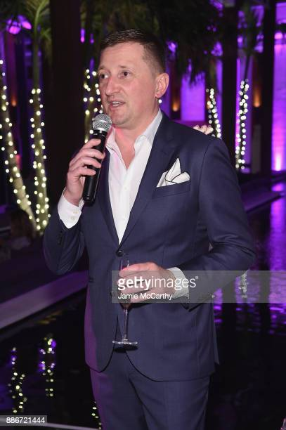 Armand de Brignac CEO Sebastien Besson speaks at Creatures Of The Night LateNight Soiree Hosted By Chopard And Champagne Armand De Brignac at The...