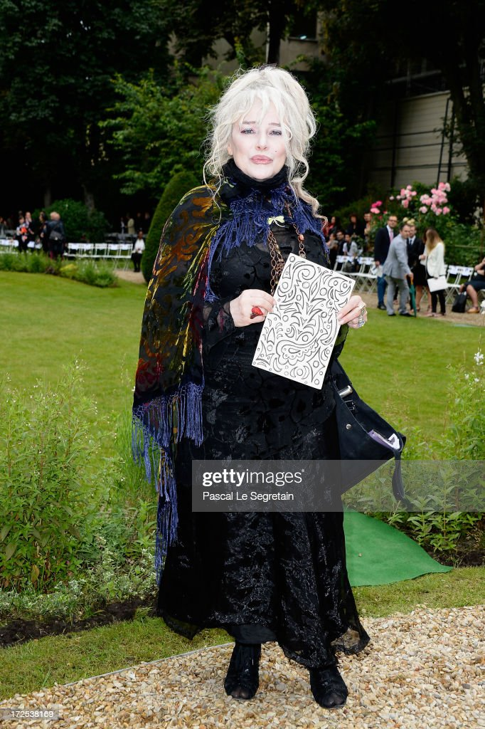 Armande Altai attends the Frank Sorbier show as part of Paris Fashion Week Haute-Couture Fall/Winter 2013-2014 at Hotel De Bezenval on July 3, 2013 in Paris, France.