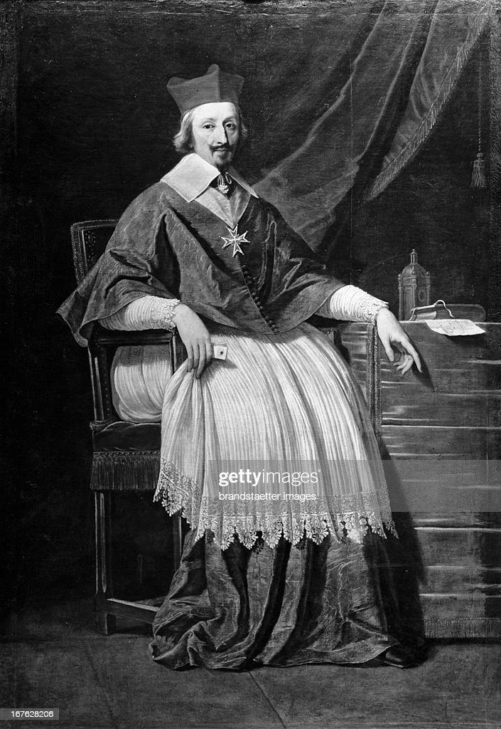 Armand-Jean du Plessis, Premier Duc de Richelieu (Kardinal Richelieu). Oil on canvas. Undated. (Photo by Imagno/Getty Images) Armand-Jean du Plessis, Premier Duc de Richelieu (Kardinal Richelieu). Öl auf Leinwand. Undatiert.