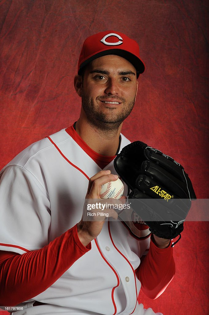 <a gi-track='captionPersonalityLinkClicked' href=/galleries/search?phrase=Armando+Galarraga&family=editorial&specificpeople=4175463 ng-click='$event.stopPropagation()'>Armando Galarraga</a> #58 of the Cincinnati Reds poses during MLB photo day on February 16, 2013 at the Goodyear Ballpark in Goodyear, Arizona.