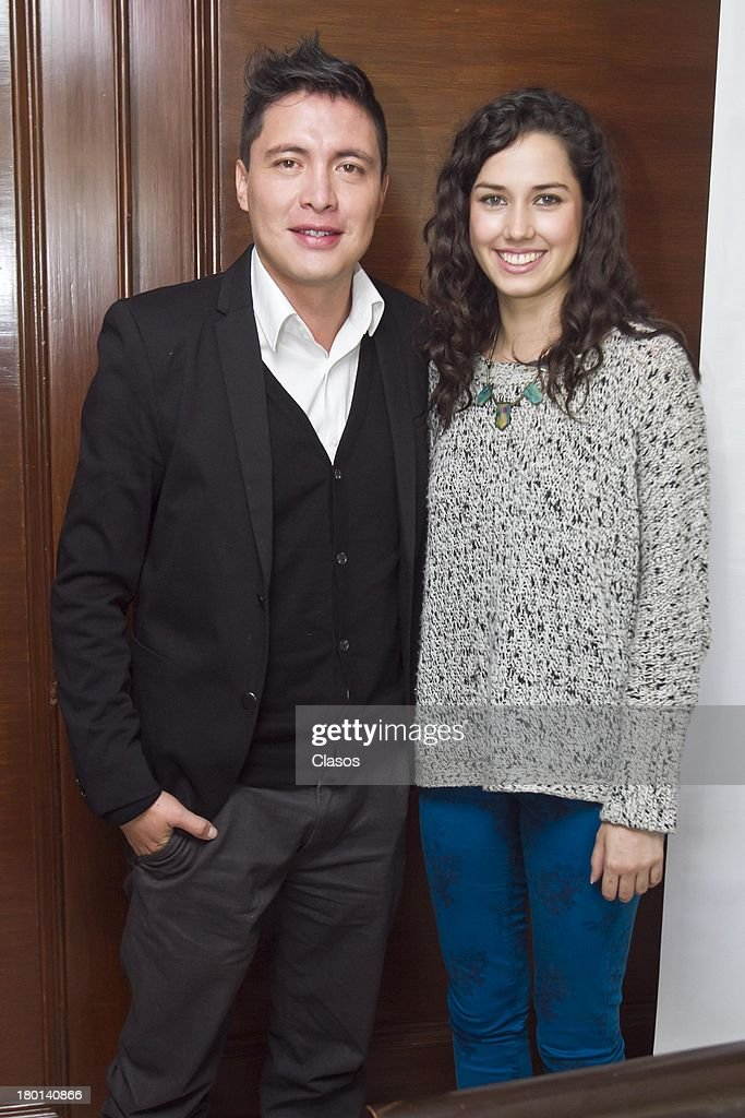 Armando Hernandez and Ximena Romo pose for a photo during a press conference to present the Colima Film Festival 2013 at Del Bosque Restauran ton Septmeber 09, 2013 in Mexico City, Mexico.