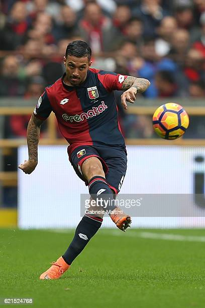 Armando Izzo of Genoa CFC in action during the Serie A match between Genoa CFC and Udinese Calcio at Stadio Luigi Ferraris on November 6 2016 in...