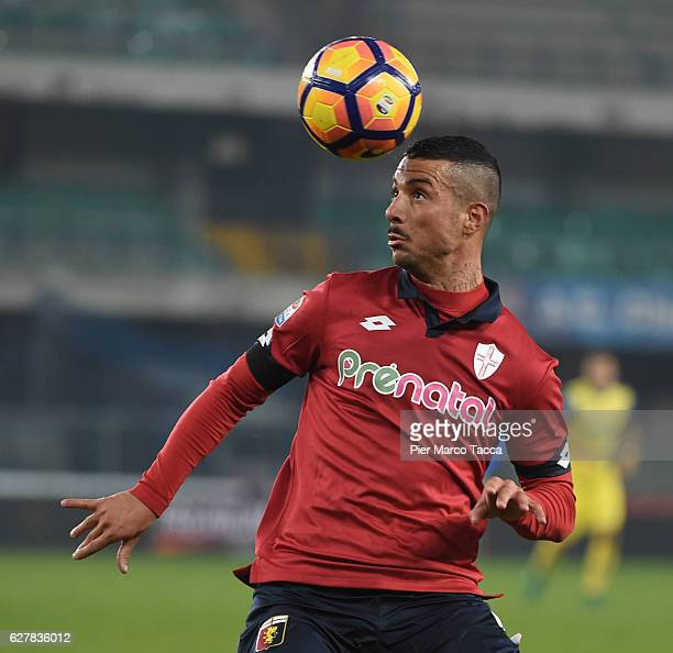 Armando Izzo of Genoa CFC in action during the Serie A match between AC ChievoVerona and Genoa CFC at Stadio Marc'Antonio Bentegodi on December 5...