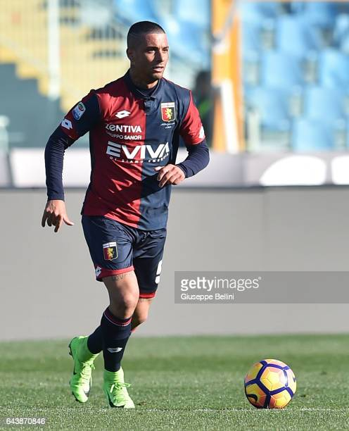 Armando Izzo of Genoa CFC in action during the Serie A match between Pescara Calcio and Genoa CFC at Adriatico Stadium on February 19 2017 in Pescara...