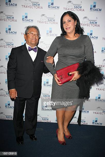 Armando Manzanero poses during the red carpet of the SACM Hits Awards 2012 at the Roberto Cantoral Auditorium on October 30 2012 in Mexico City Mexico