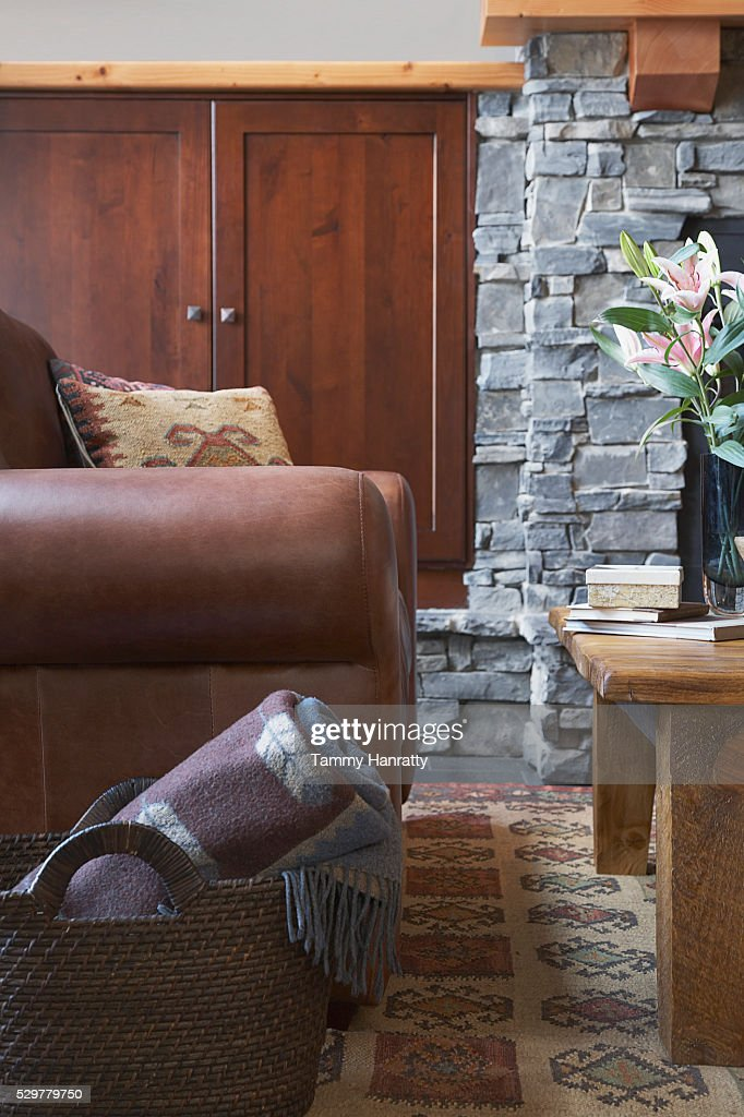 Armchair in living room : Stock Photo