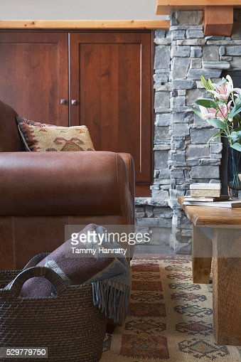 Armchair in living room : Foto stock