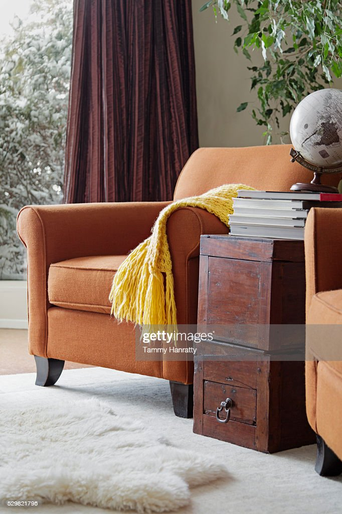Armchair in living room : Foto de stock