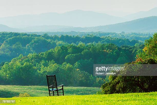 Armchair Overlooking Mountains