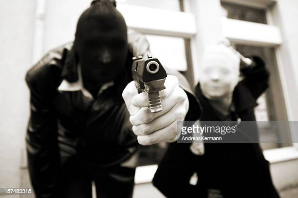 armed Bank robbers