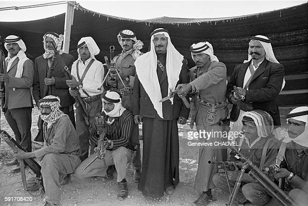 Armed Bedouins gather at Ma'An before heading to Amman to join the Jordanian army in the conflict against the Palestinian Fedayeen during the Black...