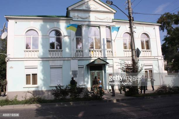 Armed Federal Security Service of the Russian Federation officers encircled the building of Mejlis of the Crimean Tatar People...