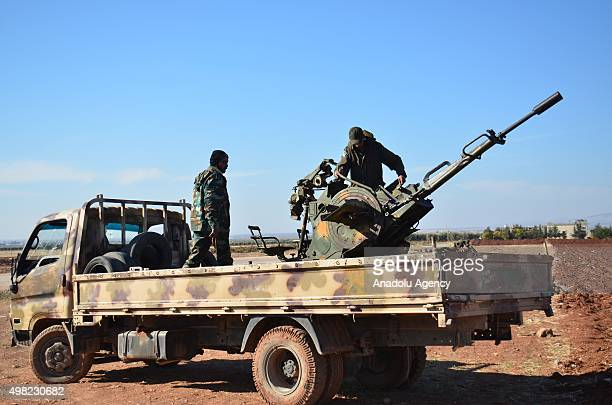 Armed opposition groups linked to the al Shamiya Front and Murat Brigades attack Daesh militants in the village of Harcele in northern Aleppo Syria...