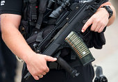 Armed police at Cardiff Bay during the NATO Summit on September 4 2014 which is being held in Newport Wales Leaders and senior ministers from across...