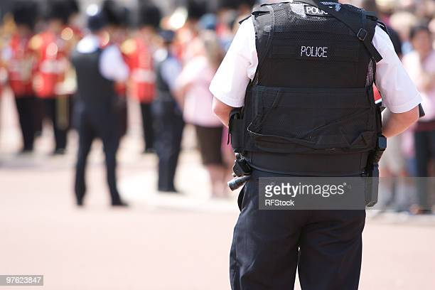Armed Police Officer outside Buckingham Palace