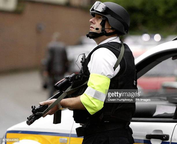 Armed police on guard as the police convoy carrying David Bieber arrives at Newcastle Crown Court The 35yearold will go on trial accused of murdering...