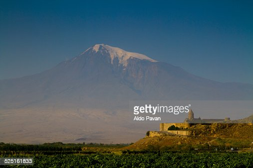 Armenia, in the back the Ararat mountain
