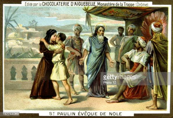 Armenia slaughter by the Turks in 18941896 St Paulin bishop from Nole Advertisement for Aiguebelle chocolate Late 19th century Chromolithograph...