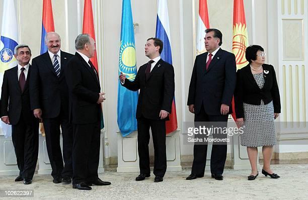 Armenian President Serge Sargsyan Belarus President Alexander Lukashenko Kazakh President Nursultan Nazarbayev Russian President Dmitry Medvedev...