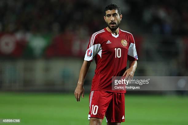 Armenia's midfielder Gevorg Ghazaryan during the EURO 2016 qualification match between Portugal and Armenia at the Estadio do Algarve on November 14...