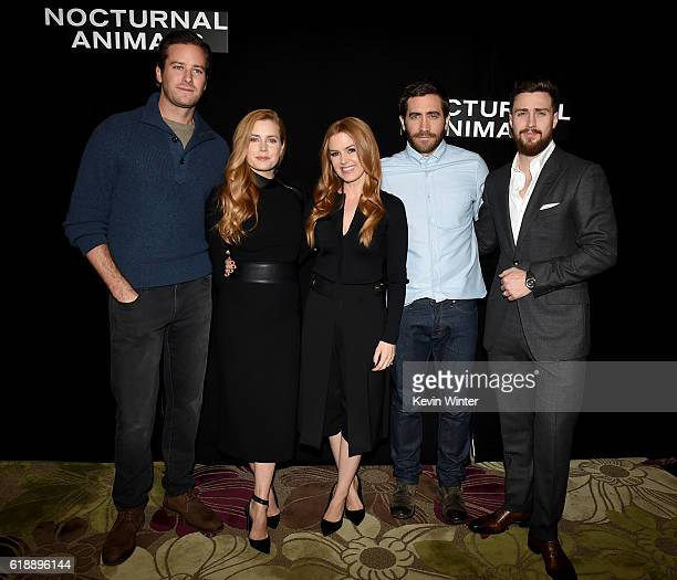 Armie Hammer Amy Adams Isla Fisher Jake Gyllenhaal and Aaron TaylorJohnson attend the photo call for Focus Features' 'Nocturnal Animals' in Four...