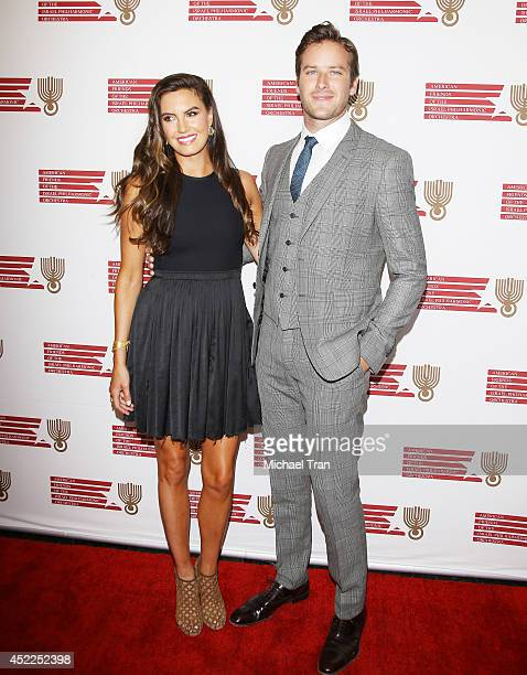 Armie Hammer and Elizabeth Chambers arrive at the Israeli Philharmonic Orchestra's Lifetime Achievement Award Ceremony honoring Hans Zimmer held at...