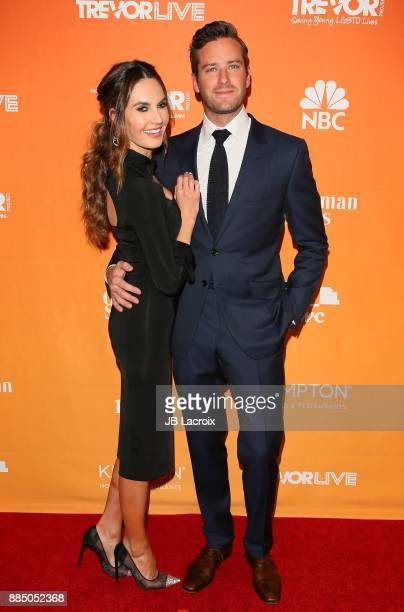 Armie Hammer and Elizabeth Chambers attend The Trevor Project's 2017 TrevorLIVE LA on December 3 2017 in Beverly Hills California
