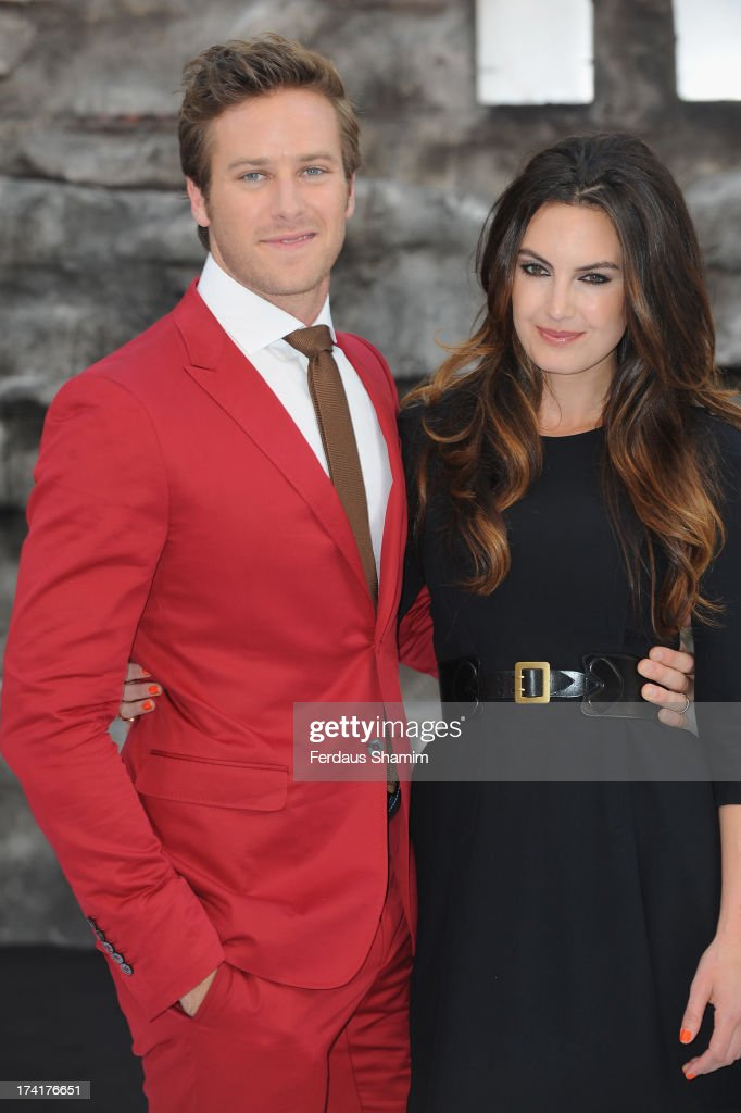 <a gi-track='captionPersonalityLinkClicked' href=/galleries/search?phrase=Armie+Hammer&family=editorial&specificpeople=5313113 ng-click='$event.stopPropagation()'>Armie Hammer</a> and <a gi-track='captionPersonalityLinkClicked' href=/galleries/search?phrase=Elizabeth+Chambers&family=editorial&specificpeople=5295153 ng-click='$event.stopPropagation()'>Elizabeth Chambers</a> attend the UK Premiere of 'The Lone Ranger' at Odeon Leicester Square on July 21, 2013 in London, England.