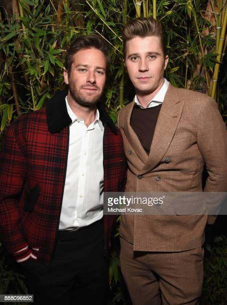 Armie Hammer and Garrett Hedlund attend the 2017 GQ Men of the Year Party at Chateau Marmont on December 7 2017 in Los Angeles California