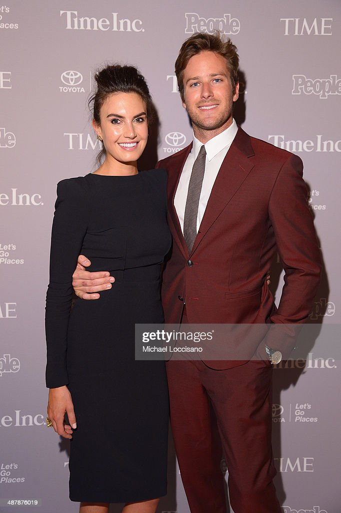 <a gi-track='captionPersonalityLinkClicked' href=/galleries/search?phrase=Armie+Hammer&family=editorial&specificpeople=5313113 ng-click='$event.stopPropagation()'>Armie Hammer</a> (R) and wife <a gi-track='captionPersonalityLinkClicked' href=/galleries/search?phrase=Elizabeth+Chambers&family=editorial&specificpeople=5295153 ng-click='$event.stopPropagation()'>Elizabeth Chambers</a> attend the PEOPLE/TIME WHCD cocktail party at St Regis Hotel - Astor Terrace on May 2, 2014 in Washington, DC.