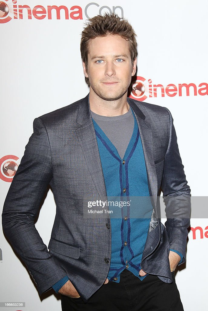 Armie Hammer appears at a Walt Disney Studios Motion Pictures presentation to promote the upcoming film 'The Lone Ranger' held at The Colosseum at Caesars Palace during CinemaCon, the official convention of the National Association of Theatre Owners on April 17, 2013 in Las Vegas, Nevada.
