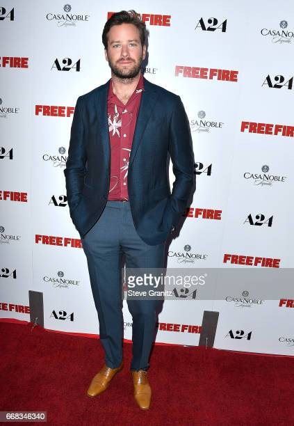 Armie Hammer arrive at the Premiere Of A24's 'Free Fire' at ArcLight Hollywood on April 13 2017 in Hollywood California