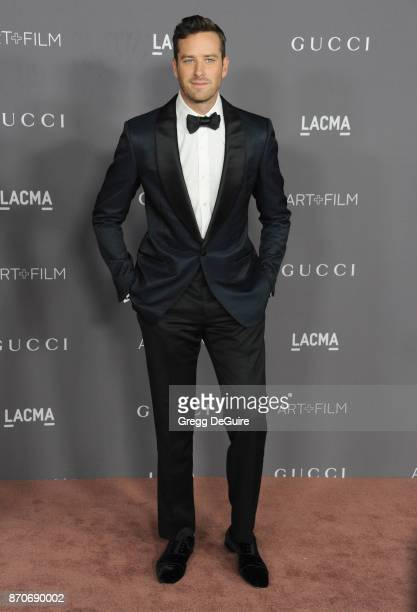 Armie Hammer arrives at the 2017 LACMA Art Film Gala honoring Mark Bradford and George Lucas at LACMA on November 4 2017 in Los Angeles California