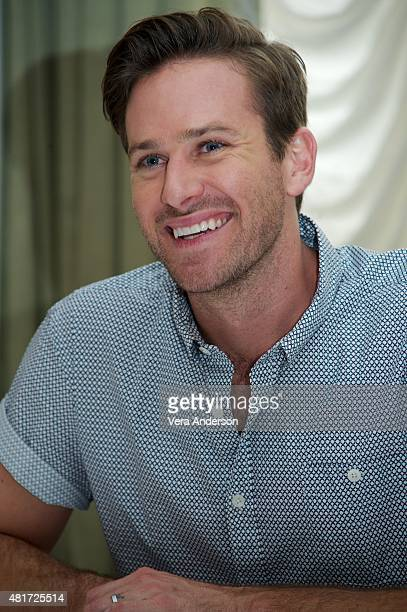 Armie Hammer at 'The Man From UNCLE' Press Conference at Claridge's Hotel on July 23 2015 in London England