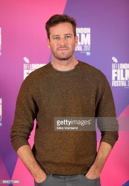 Armie Hammer attends a photocall for 'Call Me By Your Name' during the 61st BFI London Film Festival on October 9 2017 in London England