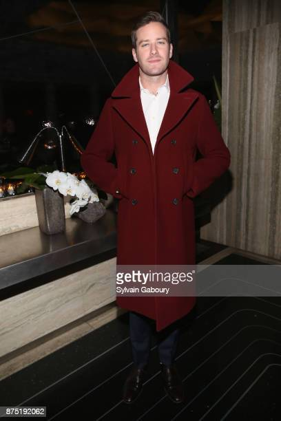 Armie Hammer attends Calvin Klein and The Cinema Society host the after party for Sony Pictures Classics' 'Call Me By Your Name' on November 16 2017...