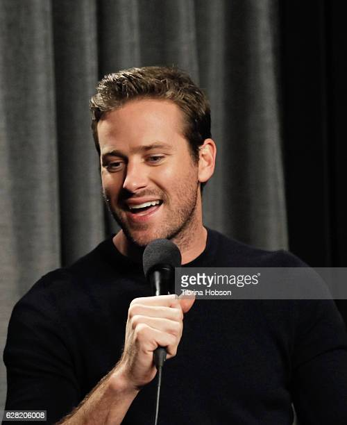 Armie Hammer attends SAGAFTRA Foundation's Conversations for 'The Birth Of A Nation' at SAGAFTRA Foundation Screening Room on December 6 2016 in Los...