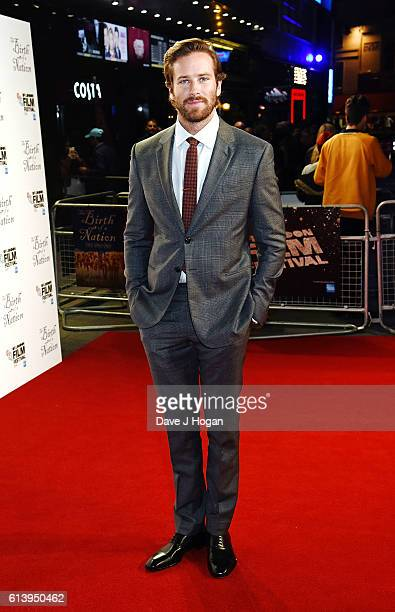 Armie Hammer attends 'The Birth Of A Nation' International Premiere screening during the 60th BFI London Film Festival at Odeon Leicester Square on...