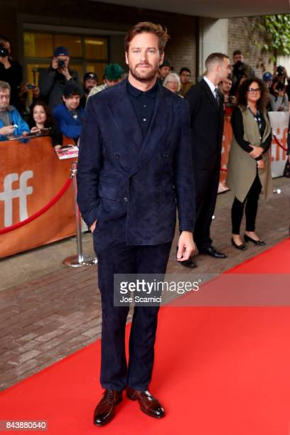 Armie Hammer attends the 'Call Me By Your Name' premiere during the 2017 Toronto International Film Festival at Ryerson Theatre on September 7 2017...