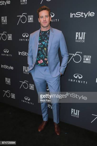 Armie Hammer attends the Hollywood Foreign Press Association and InStyle celebrate the 75th Anniversary of The Golden Globe Awards at Catch LA on...