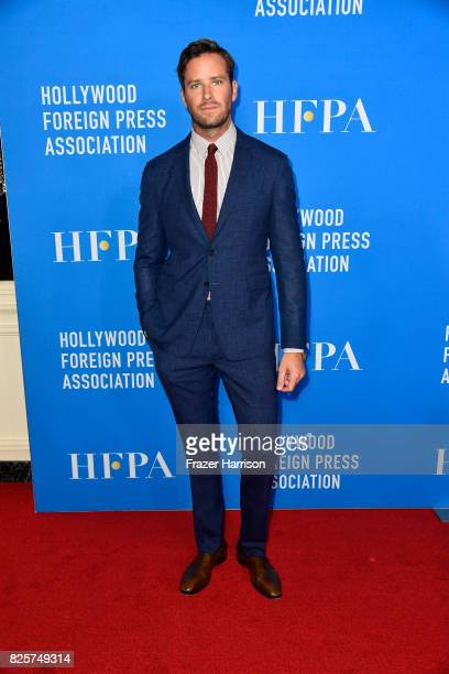 Armie Hammer attends the Hollywood Foreign Press Association's Grants Banquet at the Beverly Wilshire Four Seasons Hotel on August 2 2017 in Beverly...
