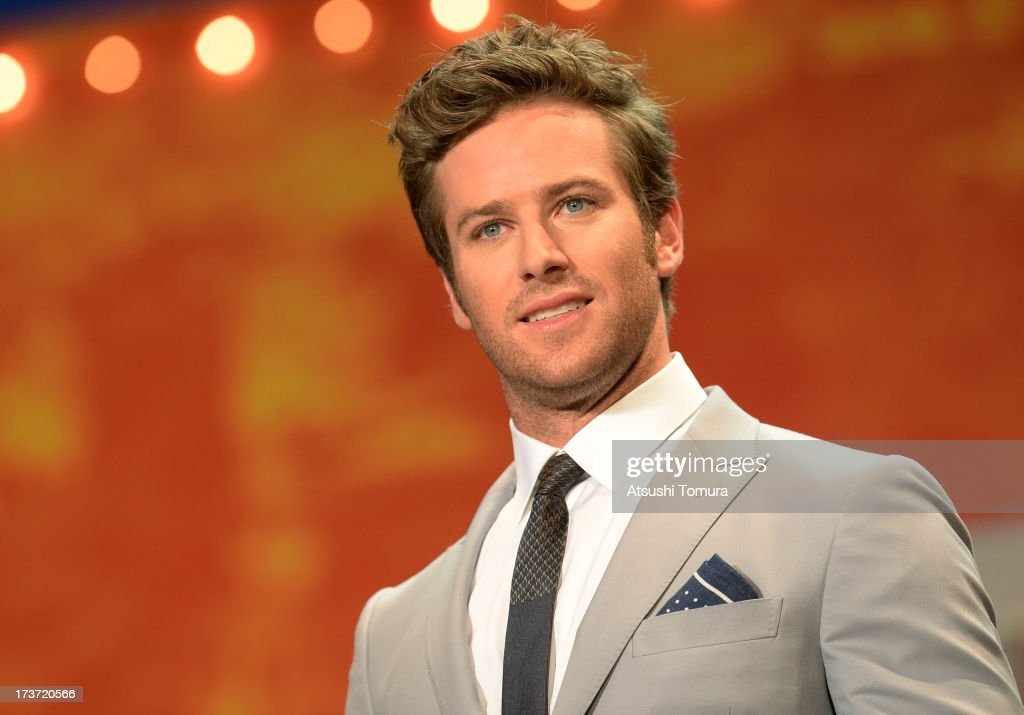 <a gi-track='captionPersonalityLinkClicked' href=/galleries/search?phrase=Armie+Hammer&family=editorial&specificpeople=5313113 ng-click='$event.stopPropagation()'>Armie Hammer</a> attends the 'Lone Ranger' Japan Premiere at Roppongi Hills on July 17, 2013 in Tokyo, Japan.The film will open on August 2 in Japan.