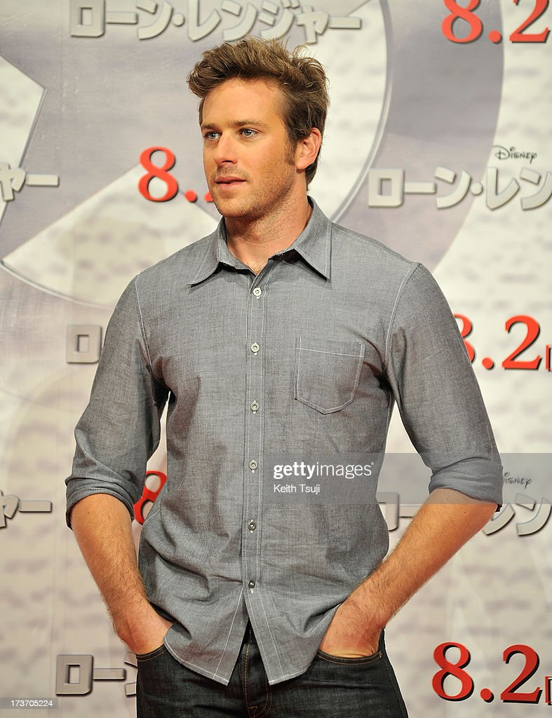 Armie Hammer attends the 'Lone Ranger' photo call at Park Hyatt Tokyo on July 17, 2013 in Tokyo, Japan. The film will open on August 2 in Japan.