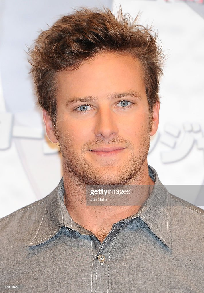 <a gi-track='captionPersonalityLinkClicked' href=/galleries/search?phrase=Armie+Hammer&family=editorial&specificpeople=5313113 ng-click='$event.stopPropagation()'>Armie Hammer</a> attends 'The Lone Ranger' photo call at the Park Hyatt Hotel on July 17, 2013 in Tokyo, Japan.