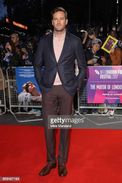 Armie Hammer attends the Mayor Of London Gala UK Premiere of 'Call Me By Your Name' during the 61st BFI London Film Festival on October 9 2017 in...