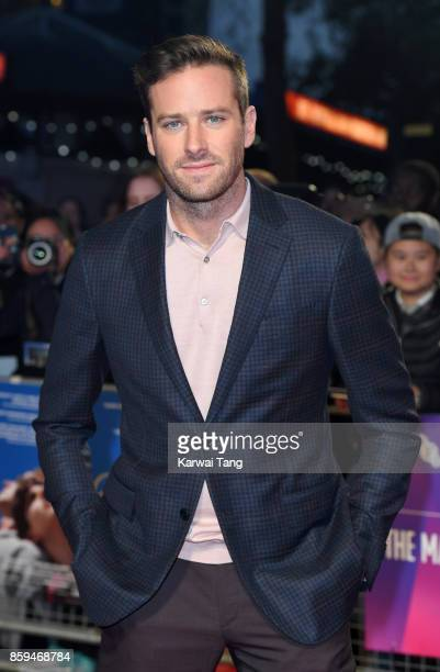Armie Hammer attends the Mayor Of London Gala UK Premiere of 'Call Me By Your Name' during the 61st BFI London Film Festival at Odeon Leicester...