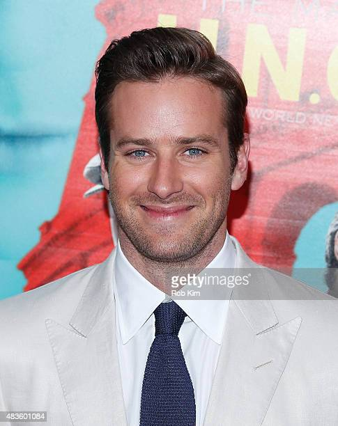 Armie Hammer attends the New York Premiere for 'The Man From UNCLE' at Ziegfeld Theater on August 10 2015 in New York City